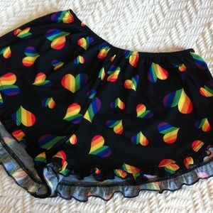 FEATURED Rainbow Heart Pajama Bottoms NWT